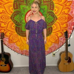 Purple goddess dress